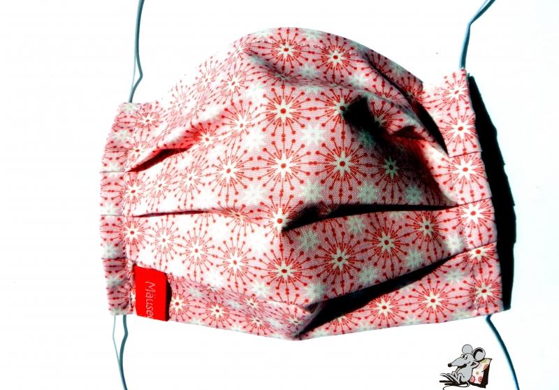 - Behelfsmaske mit biegsamen Nasenteil waschbar 100% Baumwolle Gesichtsmaske *Kreise* rosa ♥Mäusewerkstatt♥ - Behelfsmaske mit biegsamen Nasenteil waschbar 100% Baumwolle Gesichtsmaske *Kreise* rosa ♥Mäusewerkstatt♥