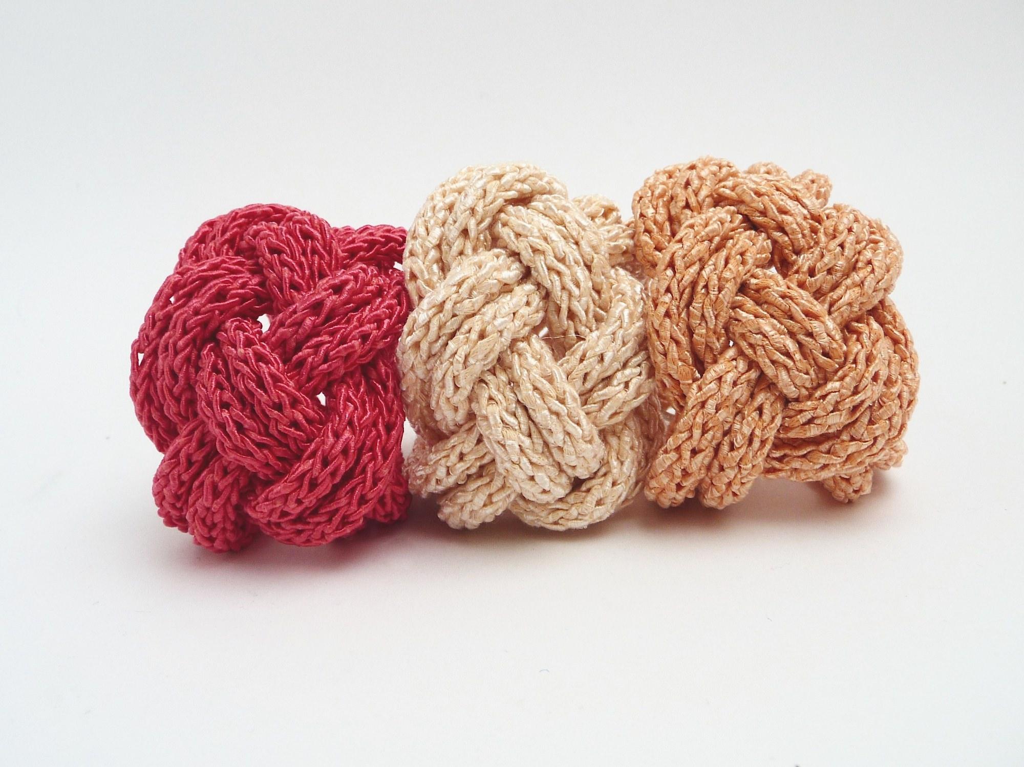 - Armband Lachs Keltischer Knoten Seide Cotton Strick Armband - Armband Lachs Keltischer Knoten Seide Cotton Strick Armband
