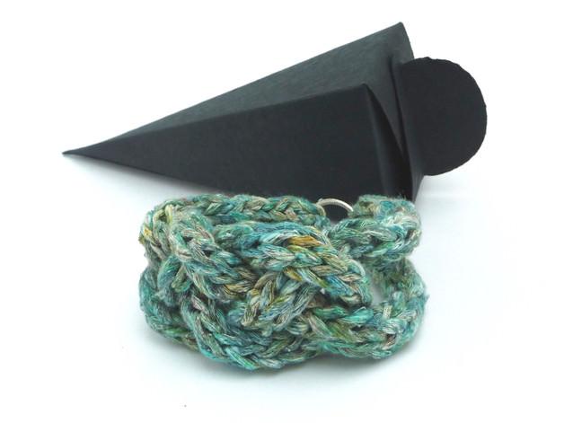 - Armband Keltischer Knoten Flechtarmband Grün Seide Cotton - Armband Keltischer Knoten Flechtarmband Grün Seide Cotton