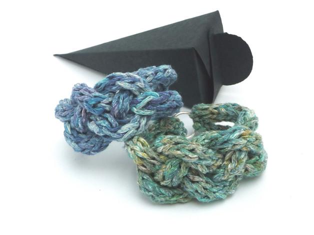 - Armband Keltischer Knoten Flechtarmband Blau Seide Cotton - Armband Keltischer Knoten Flechtarmband Blau Seide Cotton