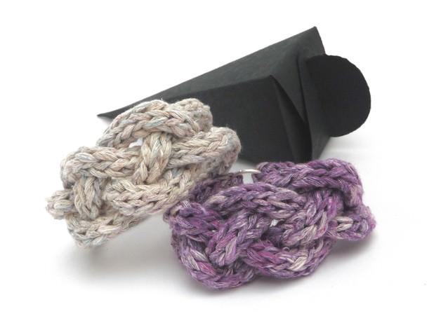 Kleinesbild - Armband Keltischer Knoten Flechtarmband Pastell Seide Cotton