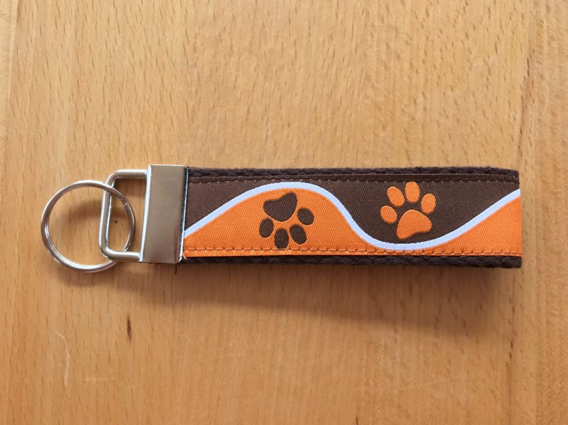 - Schlüsselanhänger Pfote Orange-Braun - Schlüsselanhänger Pfote Orange-Braun