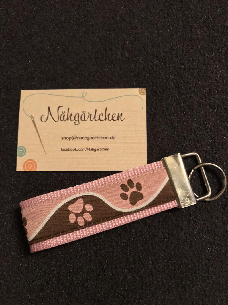 - Schlüsselanhänger Pfote rosa-braun - Schlüsselanhänger Pfote rosa-braun