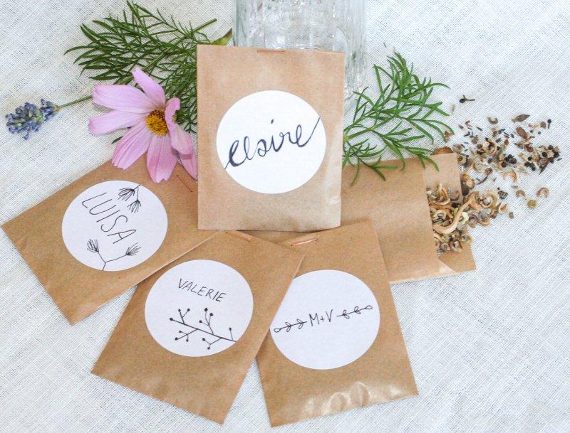 Anlasse Gastgeschenk Blumensamen Im Kraftpapier Tutchen Schon