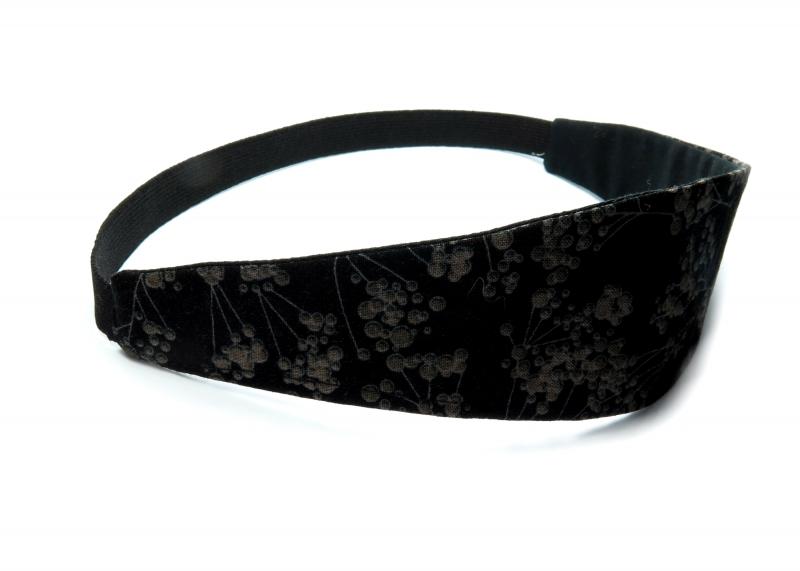 Kleinesbild - Milo-Schaly Haarband zum Wenden Stirnband schwarz floral Wendehaarband Abschminkband (Kopie id: 100242110) (Kopie id: 100242225)