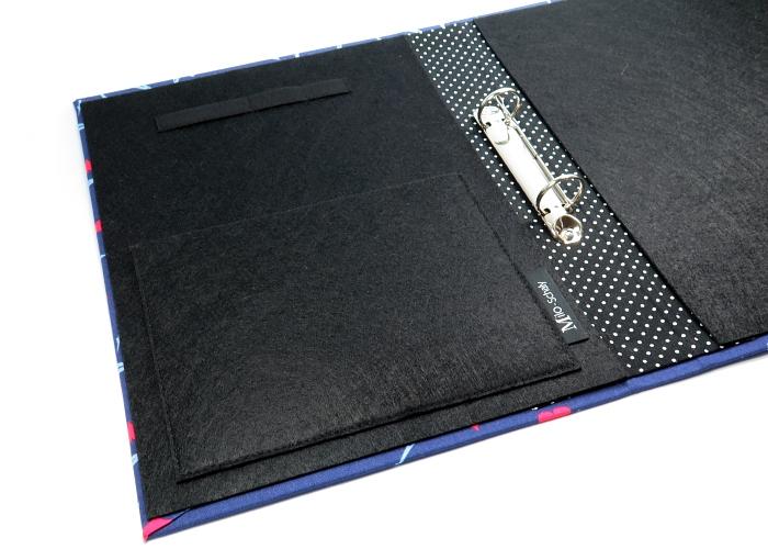 Kleinesbild - Milo-Schaly Organizer DIN A4 Paris Schreibmappe Ordner Ringbuchordner Ringbuch Filz vegan Eiffelturm