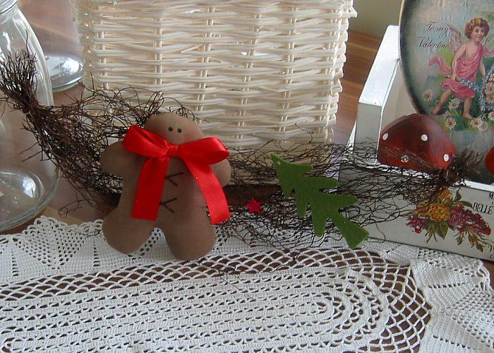 Kleinesbild - Girlande Weihnachten Türdeko Lebkuchenmann Tannenbaum Advent Weihnachtsdeko