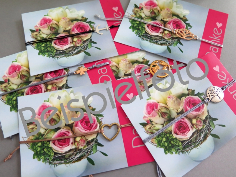 Kleinesbild - Armband rosegoldfarben Freundschaftsarmband Makramee Farbwahl 25 Farben