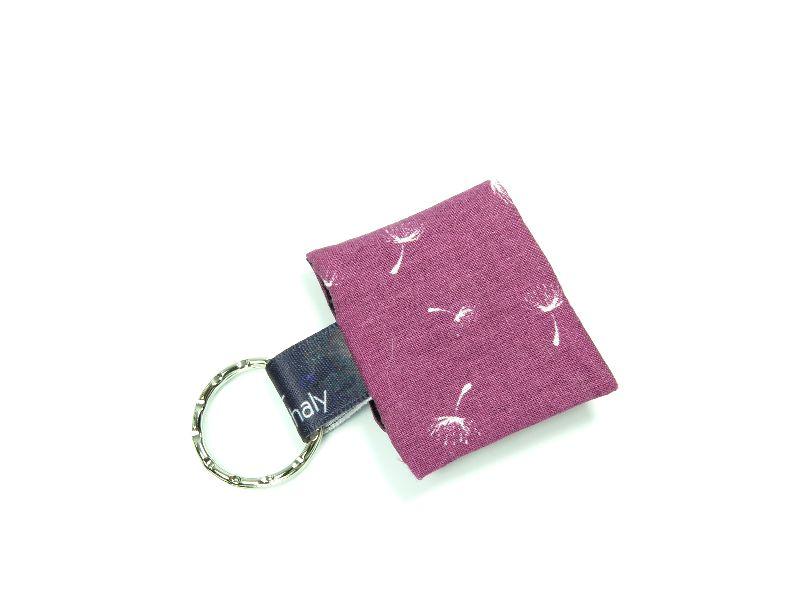 Kleinesbild - Milo-Schaly Einkaufswagenchip Täschchen Pusteblume beere schwarz Schlüsselanhänger mit Chip  Chiptäschchen