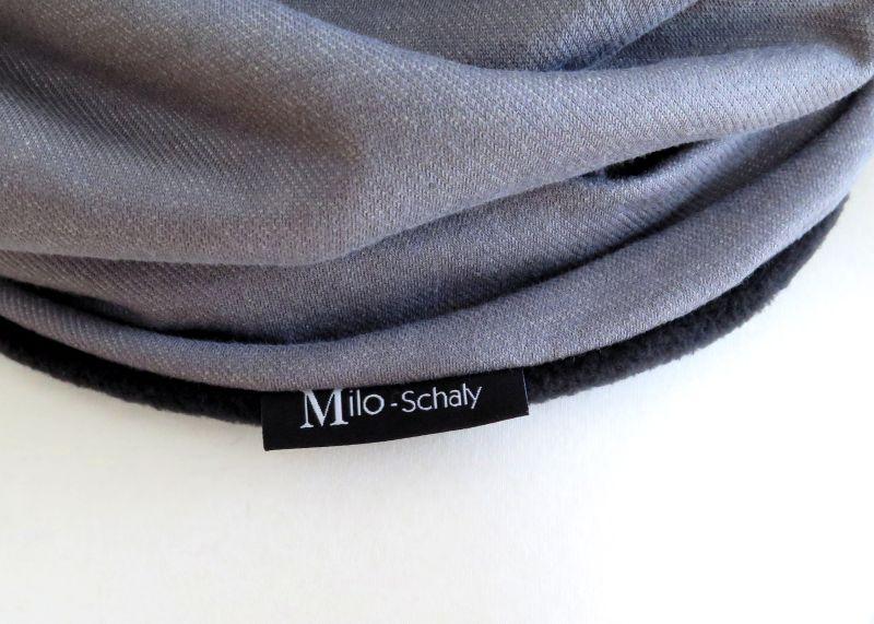 Kleinesbild - Loopschal Loop Schal Herren grau meliert Schlauchschal Fleece schwarz Männer Herrenschal