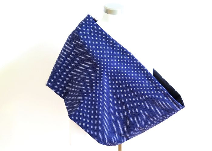 Kleinesbild - Milo-Schaly XXL Loop Stillloop Stillschal extrabreit Punkte blau weiß Baumwolle Geschenk zur Geburt