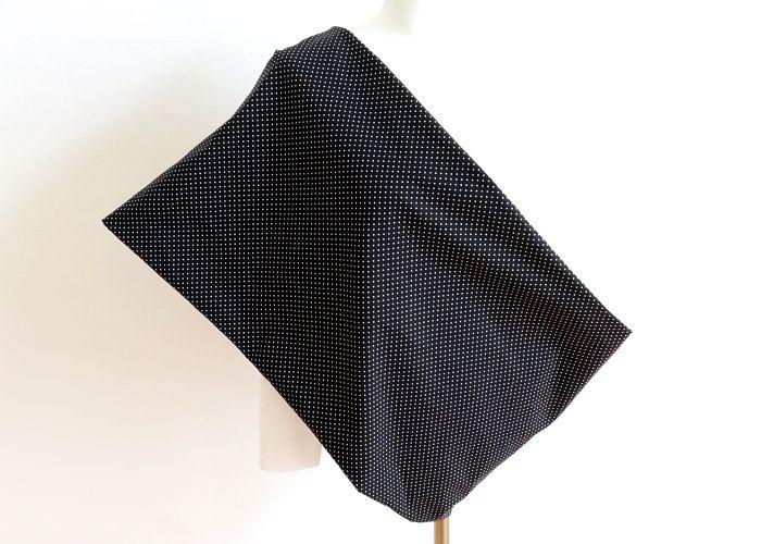 Kleinesbild - Milo-Schaly XXL Loop Stillloop Stillschal extrabreit Punkte schwarz weiß Baumwolle