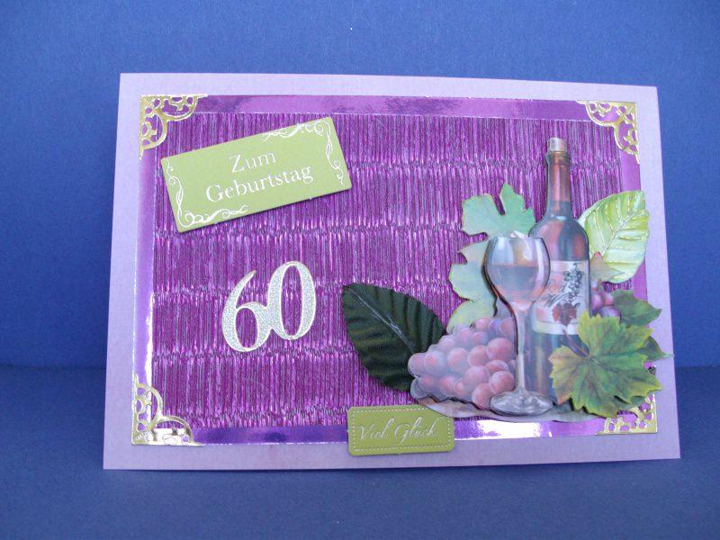 - Geburtstagskarte zum 60 für Weinliebhaber für Mann oder Frau - Geburtstagskarte zum 60 für Weinliebhaber für Mann oder Frau