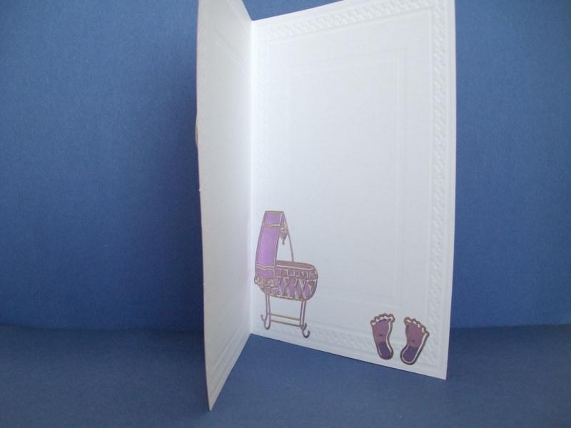 Kleinesbild - Glückwunschkarte zur Geburt eines Mädchens in rosa