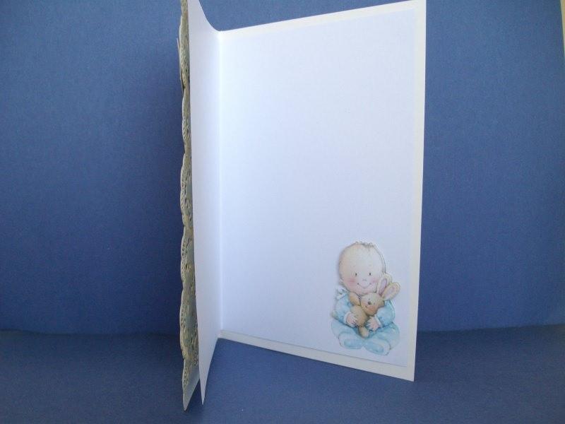 Kleinesbild - Glückwunschkarte zur Geburt eines Jungen gelasert und geprägt