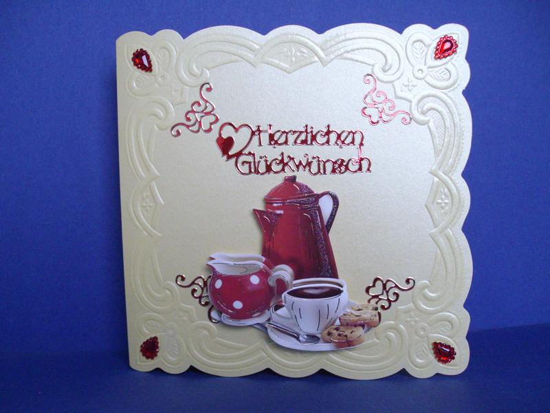 - Geburtstagskarte für eine Frau mit einem Kaffeegedeck - Geburtstagskarte für eine Frau mit einem Kaffeegedeck