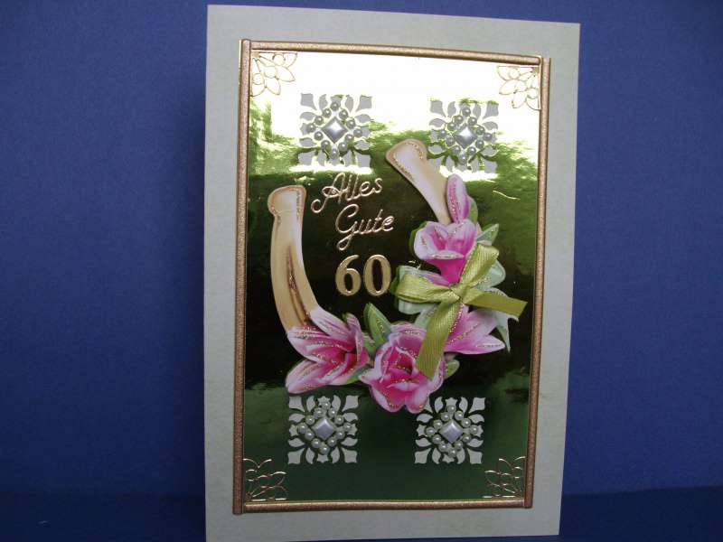 - Geburtstagskarte zum 60 für eine Frau oder einen Mann mit Hufeisen - Geburtstagskarte zum 60 für eine Frau oder einen Mann mit Hufeisen