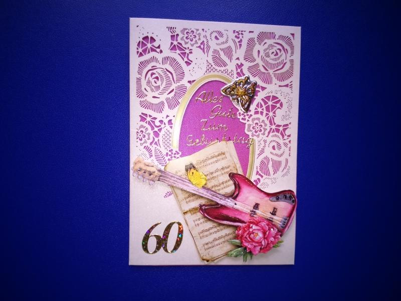 Geburtstagskarte zum 60 für eine Frau oder einen Mann