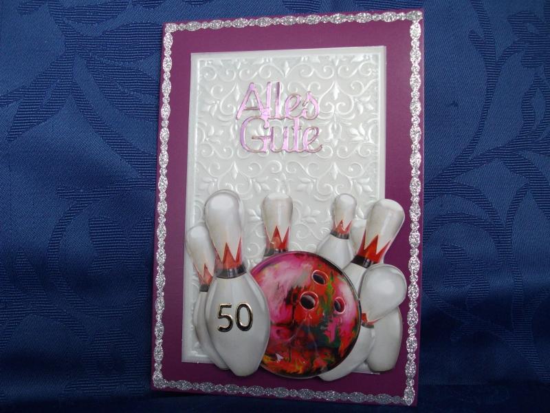 - Geburtstagskarte zum 50 für Bowlingfans - Geburtstagskarte zum 50 für Bowlingfans