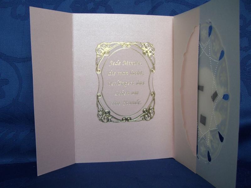 Kleinesbild - Geburtstagskarte zum 70 für eine Frau in rosa
