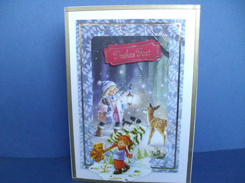 - Weihnachtskarte mit einem Kind im Winterwald - Weihnachtskarte mit einem Kind im Winterwald