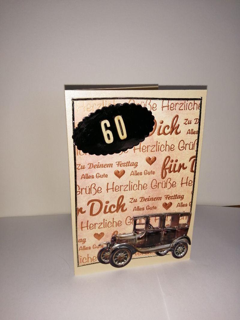 Kleinesbild - Geburtstagskarte zum 60. ten für einen Mann