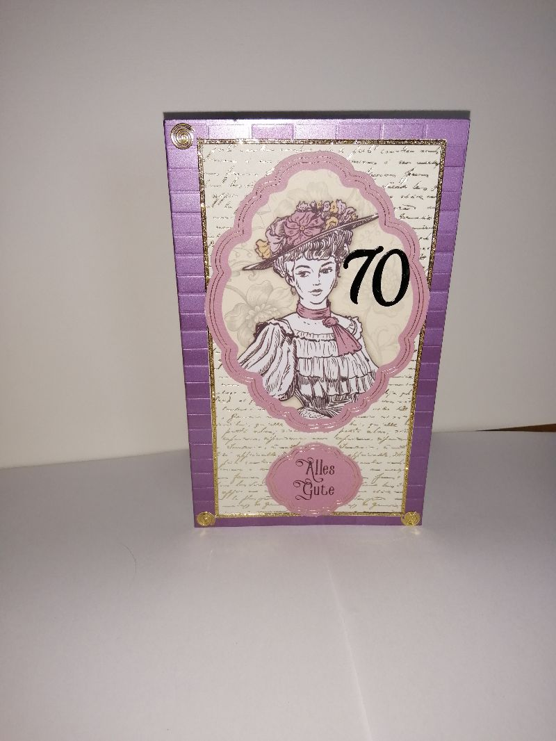 - Geburtstagskarte zum 70. ten mit einem nostalgischen Frauenmotiv - Geburtstagskarte zum 70. ten mit einem nostalgischen Frauenmotiv