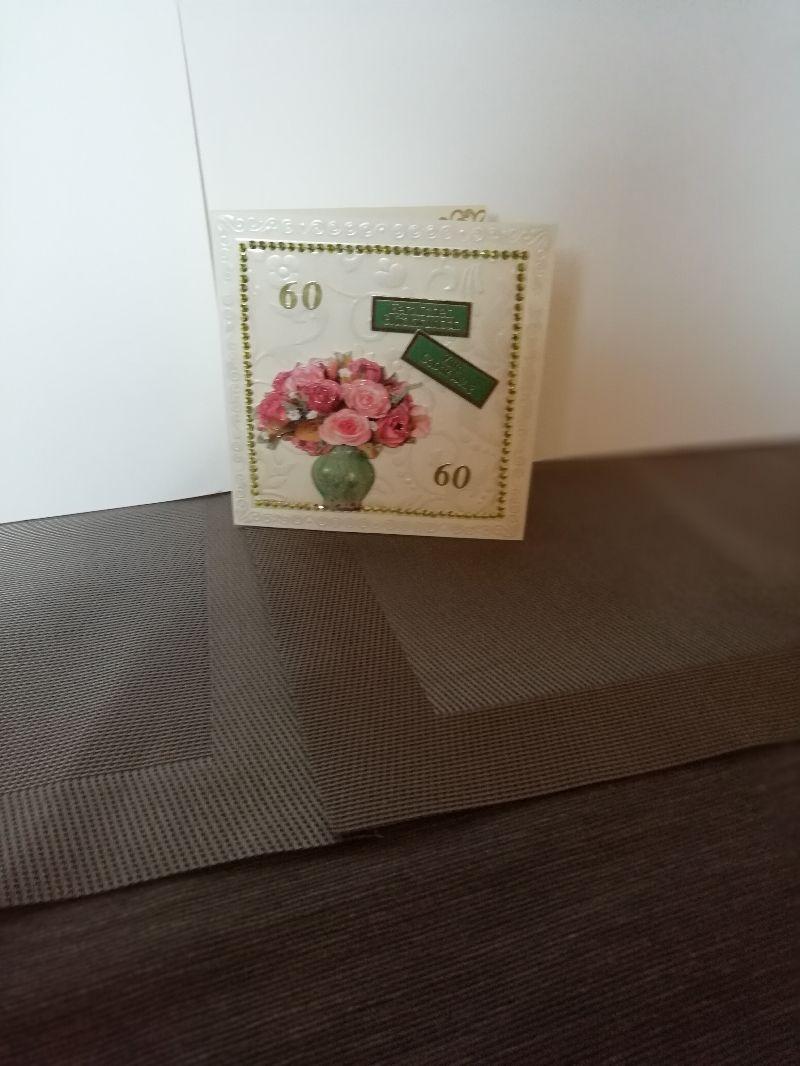 - Geburtstagskarte zum 60.ten für eine Frau - Geburtstagskarte zum 60.ten für eine Frau
