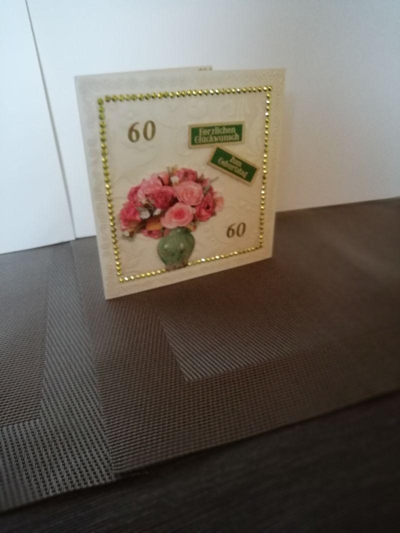 Kleinesbild - Geburtstagskarte zum 60.ten für eine Frau