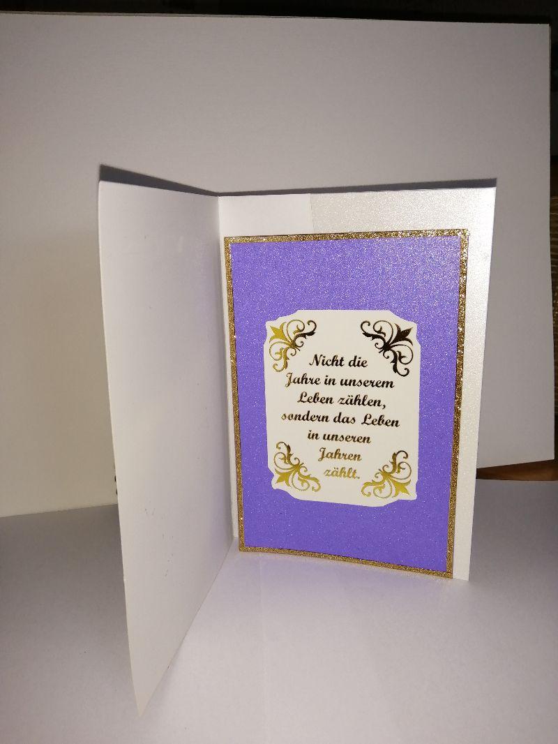 Kleinesbild - Geburtstagskarte zum 70.ten für eine Frau