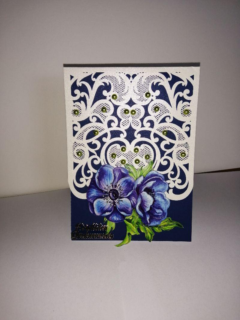 - Geburtstagskarte zum 60.ten für eine Frau mit Blumen - Geburtstagskarte zum 60.ten für eine Frau mit Blumen