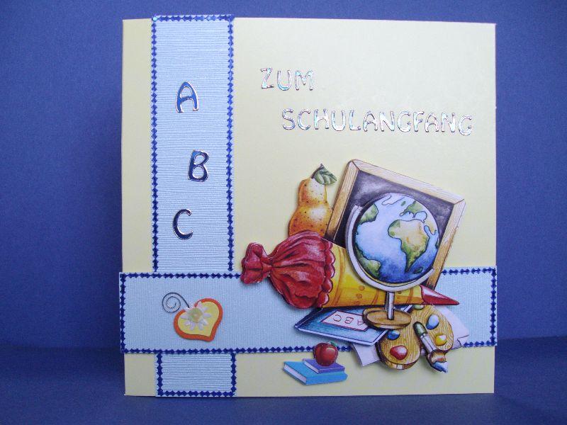 - Karte zum Schulanfang für Mädchen oder Jungen - Karte zum Schulanfang für Mädchen oder Jungen