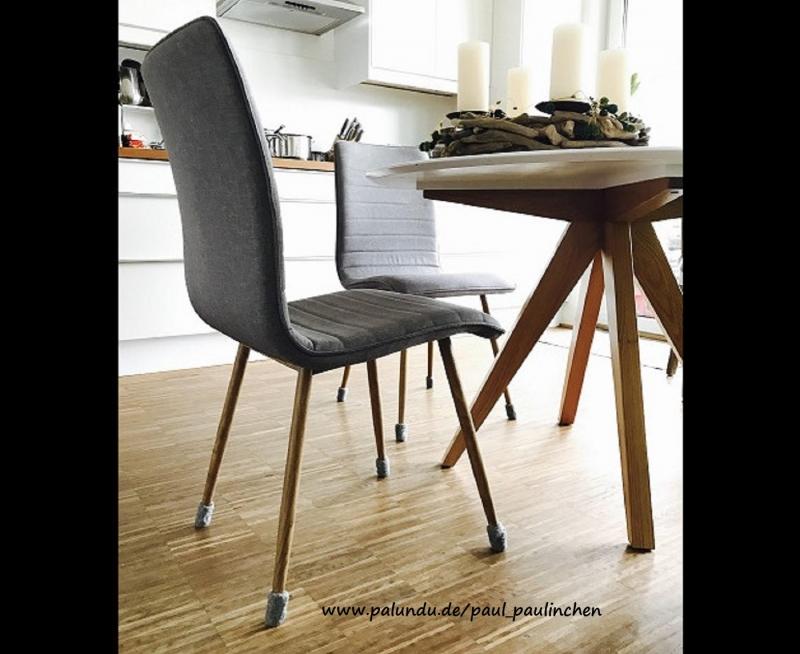 - Stuhlsocken, stahlgrau, 5 - 6cm Stuhlbeinumfang, gefilzt, 1 Set = 4 Söckchen - Stuhlsocken, stahlgrau, 5 - 6cm Stuhlbeinumfang, gefilzt, 1 Set = 4 Söckchen