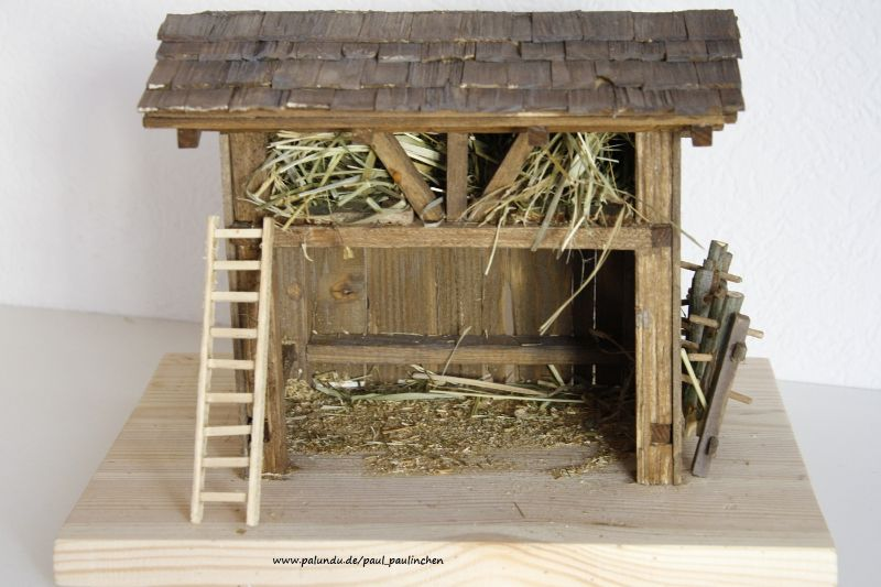 Kleinesbild - Weihnachtskrippe inkl.Heiliger Familie, bis ins kleinste Detail selbst angefertigt,  Modell 5057,  bei Paul & Paulinchen