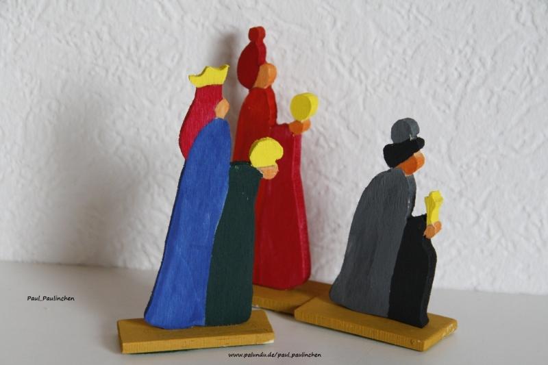 Kleinesbild - Krippenfiguren Laubsägearbeit, Größe ca. 10 cm, 100% Handarbeit, Artikel 6105 bei Paul & Paulinchen