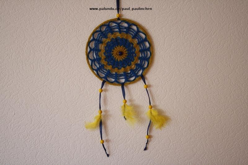 - Traumfänger, Dreamcatcher, Wanddekoration gelb-blau, Artikel 1003 bei Paul_Paulinchen - Traumfänger, Dreamcatcher, Wanddekoration gelb-blau, Artikel 1003 bei Paul_Paulinchen