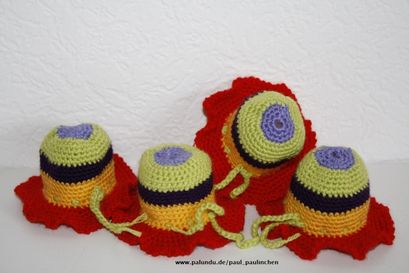 Kleinesbild - Eierhüte, Eierwärmer Kunterbunt, gehäkelt bei Paul & Paulinchen