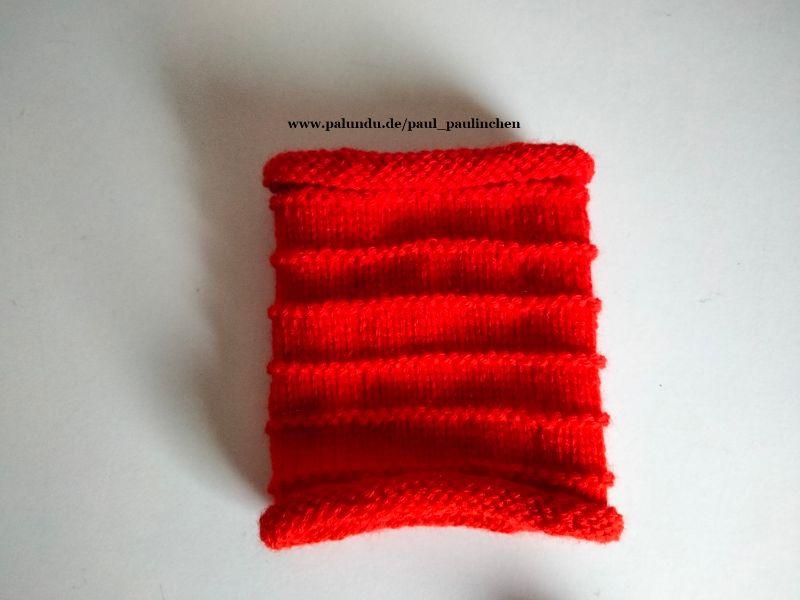 Kleinesbild - Pulswärmer, Armstulpen,  Stulpen, kurz handgestrickt, rot Artikel 1017 von Paul_Paulinchen