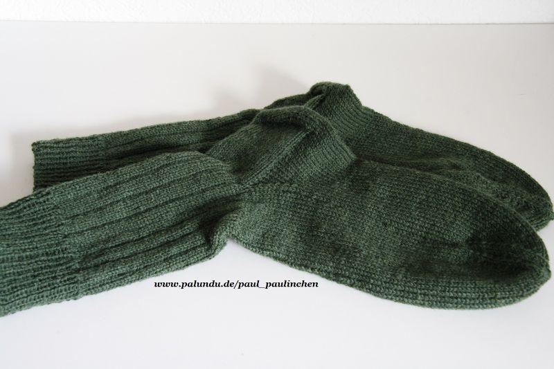 Kleinesbild -  Herrensocken handgestrickt, Fb.grün, Größe 44/45, Artikel 4242  bei Paul & Paulinchen