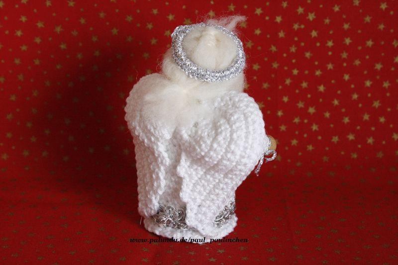 Kleinesbild - Weihnachtsengel  gehäkelt, Größe ca. 10 cm, 100% Handarbeit, Artikel 6109 bei Paul & Paulinchen