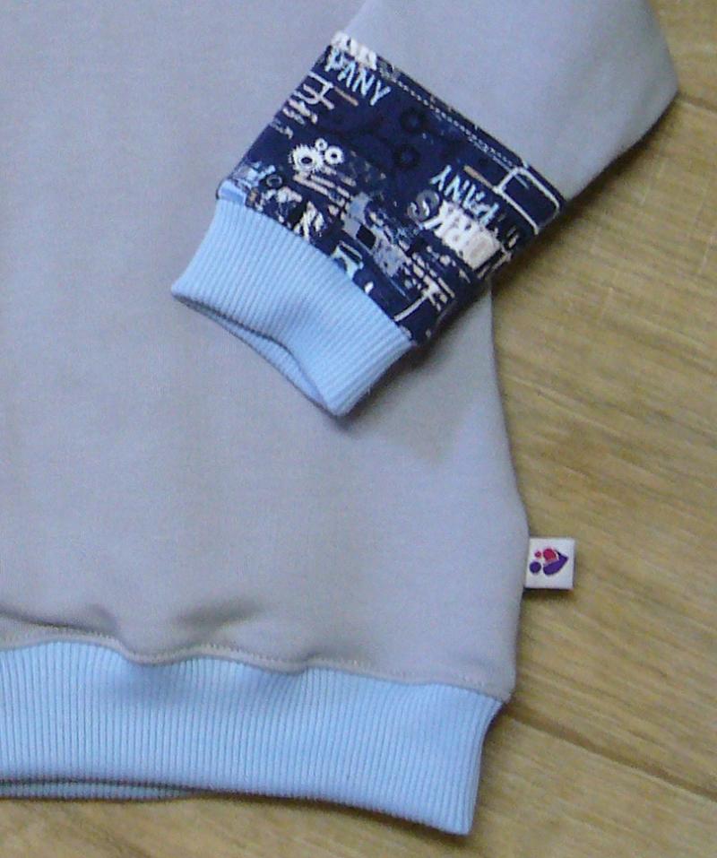 Kleinesbild - Warmer Kinderhoodie Sweatshirt  Handmade MamiAktiv Gr. 80-86,
