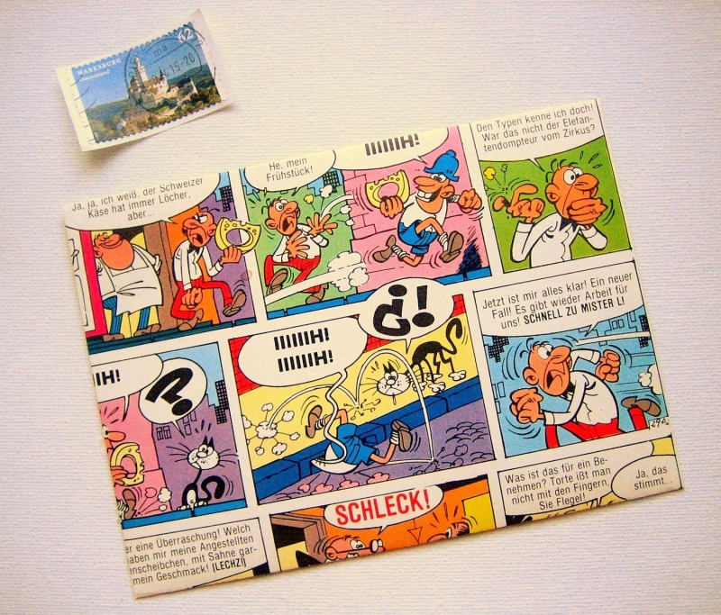 - COMIC ♥ toller Briefumschlag *upcycling* - COMIC ♥ toller Briefumschlag *upcycling*
