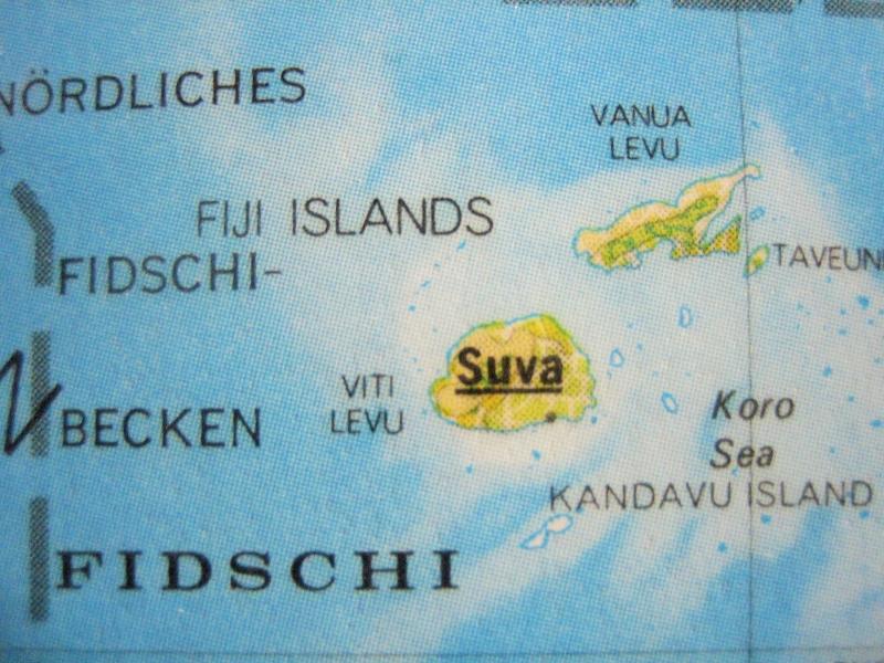 Kleinesbild - Kofferanhänger FIDSCHI ♥ Südsee Landkarte *upcycling*
