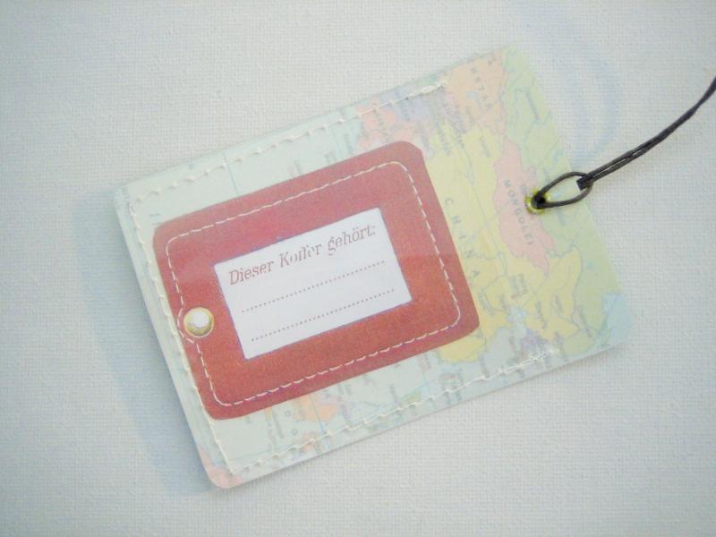 Kleinesbild - Kofferanhänger ENGLAND und IRLAND ♥ Landkarte *upcycling*