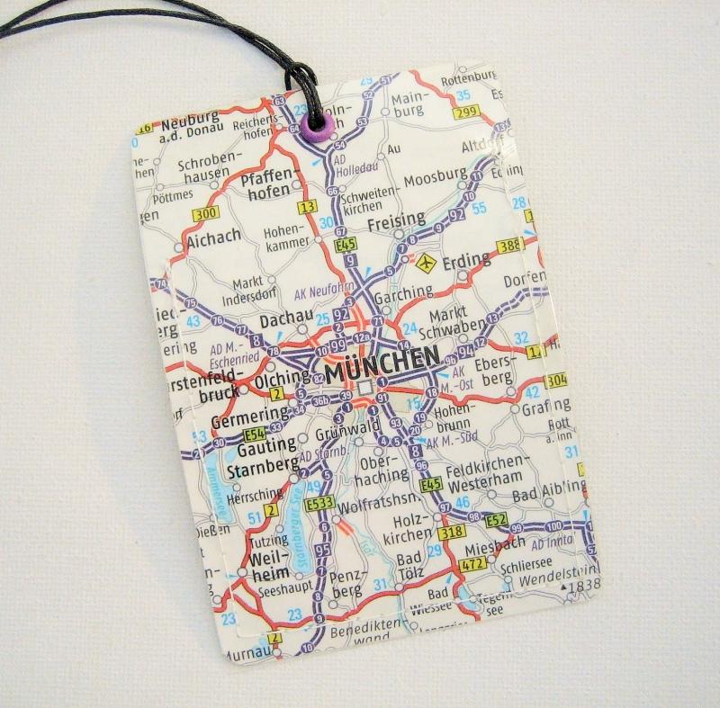 - Kofferanhänger MÜNCHEN ♥ Deutschland Landkarte *upcycling* - Kofferanhänger MÜNCHEN ♥ Deutschland Landkarte *upcycling*