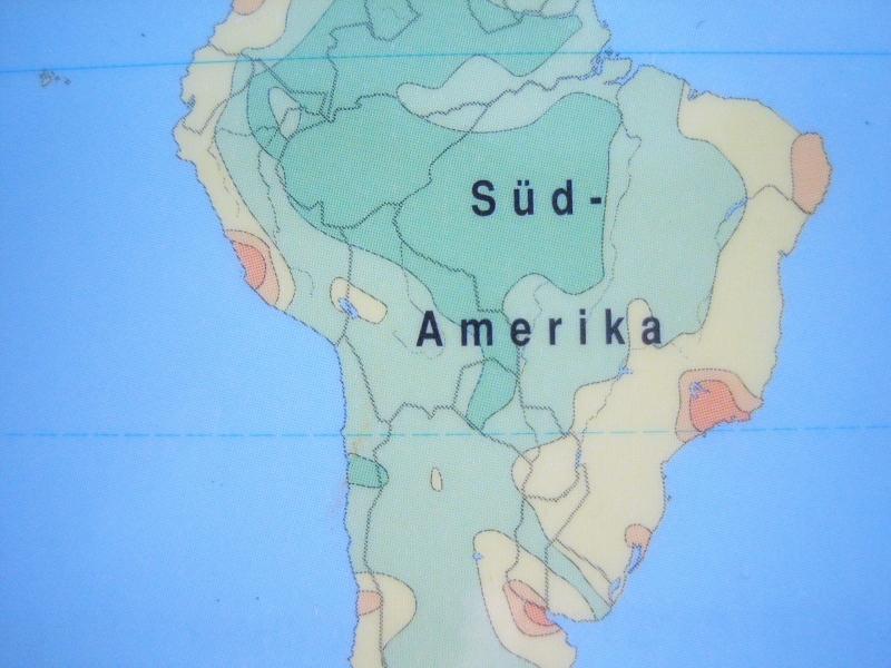 Kleinesbild - Kofferanhänger SÜDAMERIKA ♥ Brasilien Landkarte *upcycling*