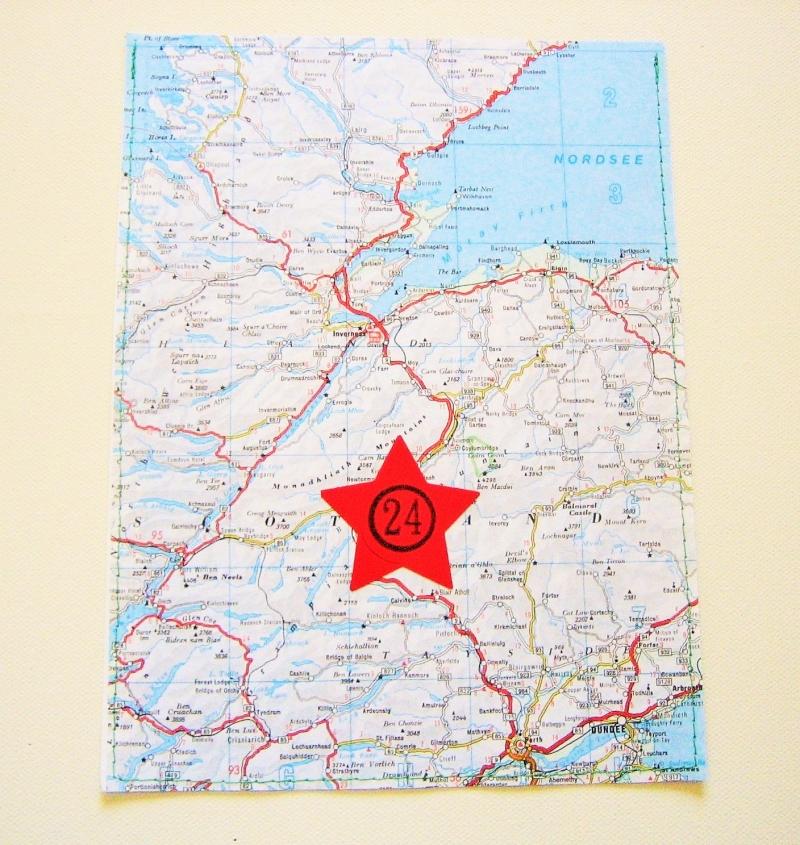 Kleinesbild - Adventskalender Landkarte ♥ 24 PAPIERTÜTEN *upcycling pur* Weihnachten
