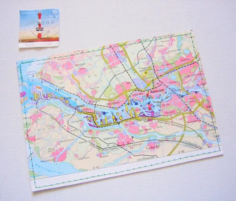- Tolle Postkarte ROTTERDAM ♥ Niederlande *upcycling pur* - Tolle Postkarte ROTTERDAM ♥ Niederlande *upcycling pur*