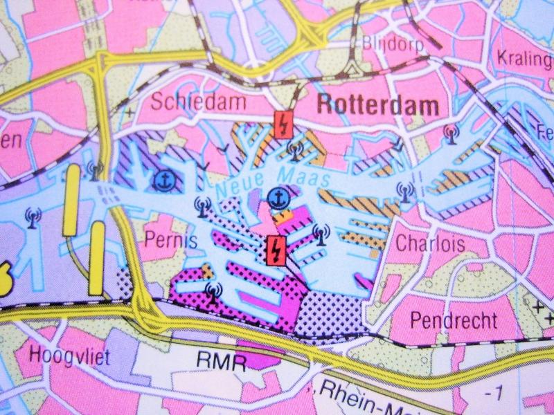 Kleinesbild - Tolle Postkarte ROTTERDAM ♥ Niederlande *upcycling pur*