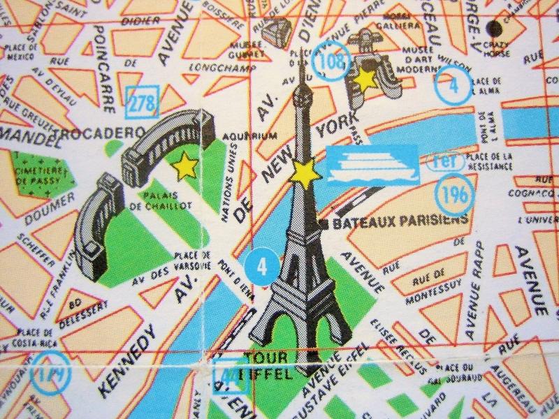 Kleinesbild - 2er-Set Postkarten PARIS Stadtplan ♥ Frankreich *upcycling pur*